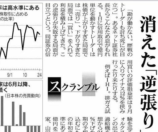 新聞記事解読①:予想が最高益だから逆張りは通用するのか?